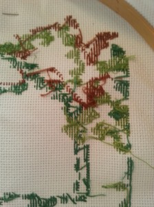 cross stitch back knots