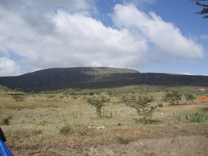 The view of Mt. Longonot before we began our hike